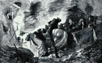 Una ricostruzione della sepoltura di Alarico