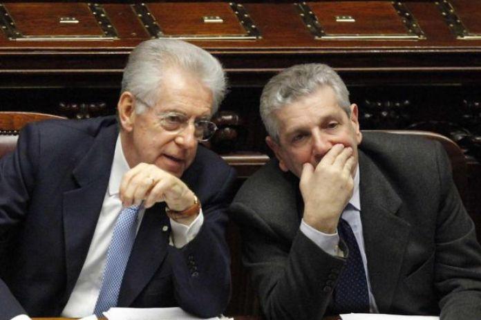 STRATEGHI L'ex premier Monti con l'ex ministro della Difesa Di Paola
