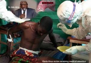 Una vittima del Virus Ebola riceve istruzioni in Liberia