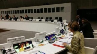 il ministro Beatrice Lorenzin a Milano durante sessione del vertice informale UE su Ebola