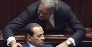 Berlusconi con Verdini alla Camera