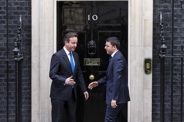 David Cameron e Matteo Renzi a Downing Street