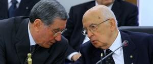 Trattativa Stato Mafia Nicola Mancino con Giorgio Napolitano (photo Monaldo/LaPresse)
