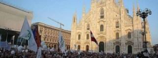 """Manifestazione della Lega a Milano Salvini: """"Stop Invasione"""""""