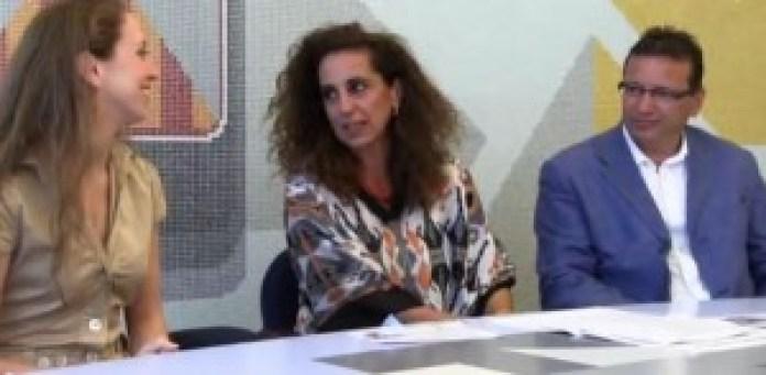 La Provincia di Catanzaro accoglie Mary Garret. La Garritano insieme a   Wanda Ferro e al giornalista Dino Granata