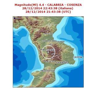 Terremoto in Sila Cosenza