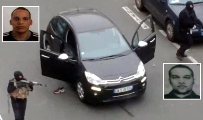 Terroristi islamici in azione contro Charlie Hebdo