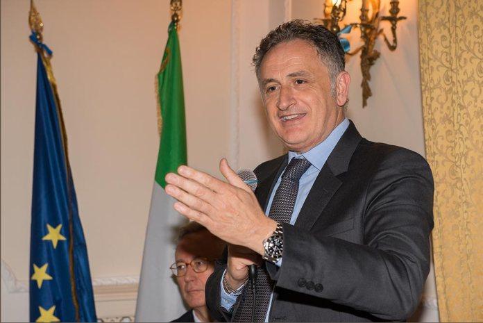 Giuseppe Ferrandino durante le europee 2014