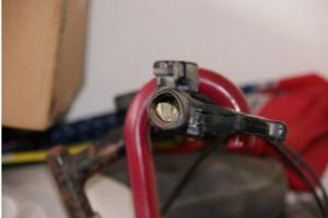 Il manubrio della bici dove venivano nascosti i pizzini