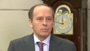 Il capo dell'Fsb Alexander Bortnikov durante l'annuncio (Gazeta.ru)