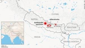 Il raggio devastante del terremoto