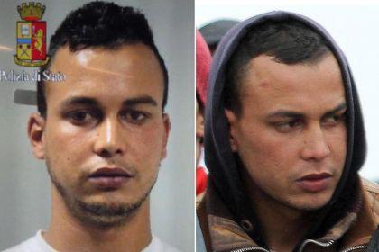A destra Abdelmajid Touil  nella foto segnaletica, a sinistra sul barcone a Porto Empedocle il 17 febbraio scorso