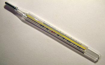 Un vecchio termometro al mercurio