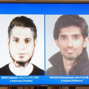 I due presunti terroristi  Briki Lassaad  e Waqas Muhammad