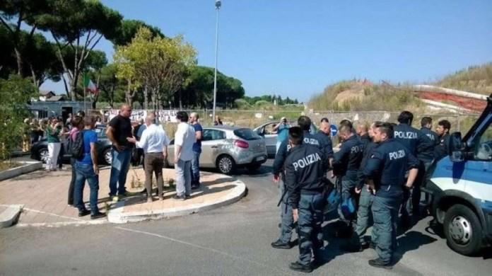 Protesta anti migranti a Roma