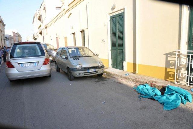 Il luogo dell'omidicio suicidio a Squinzano a Squinzano, Lecce. Maria Paola Marzo uccisa dall'ex Sergio Pagano