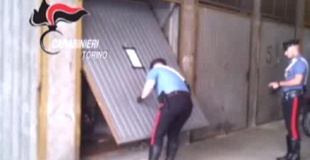 I Carabinieri di Torino durante le perquisizioni