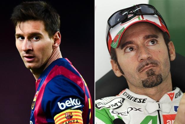 Lionel Messi e Max Biaggi