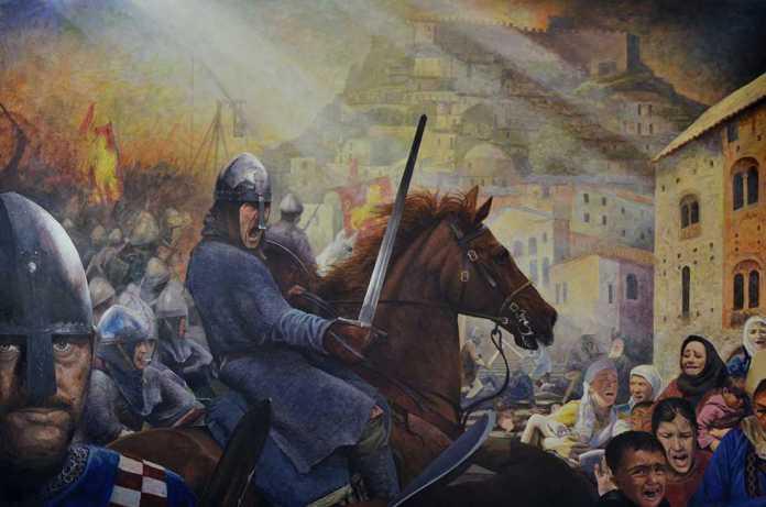 """Donata copia del dipinto """"L'Assedio di Cosenza"""" ai Carabinieri"""