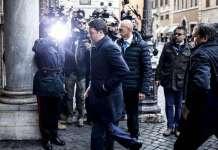 Renzi entra Senato per Unioni civili