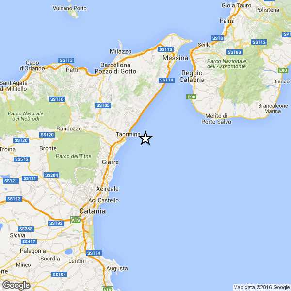 Terremoto, scossa del 3.3 nello Stretto di Messina
