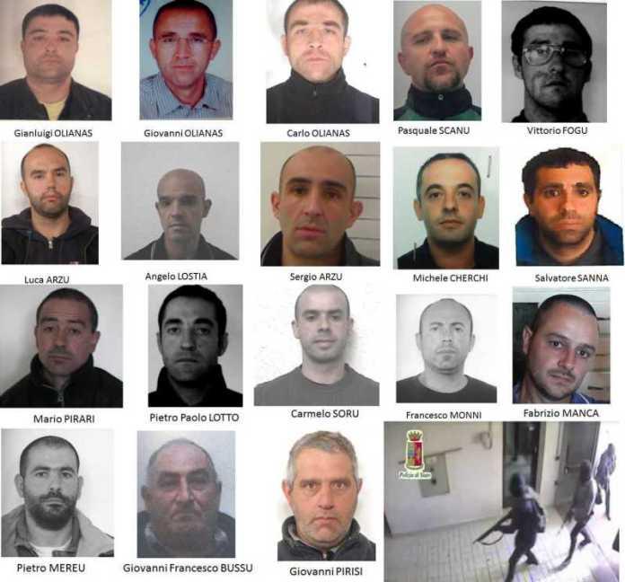 Arrestati operazione La Sfida, contro presunti autori rapine caveau in Sardegna