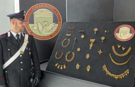 Gioielli del 1800 trafugati nel 2013 recuperati dai Carabinieri del TPC OPERAZIONE VILLA GIULIA