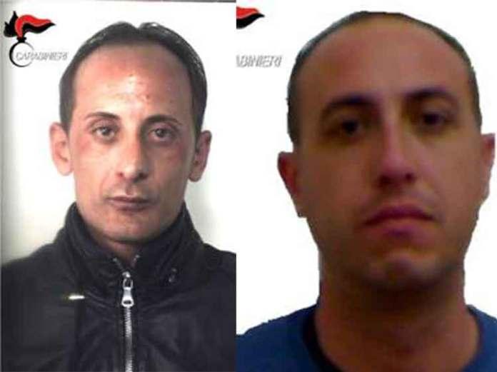 Da sinistra Sebastiano Musarella e Domenico Neri arrestati per estorsione