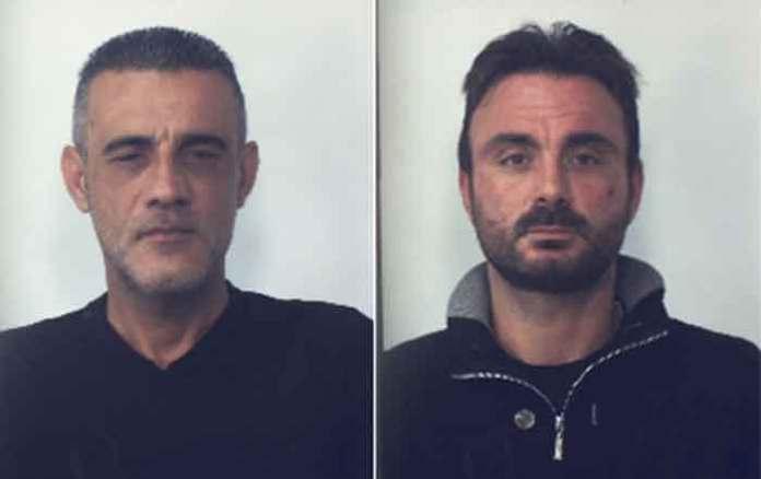 Da sinistra Tomaino e D'Andrea condannati e arrestati per la rapina a Vibo Valentia