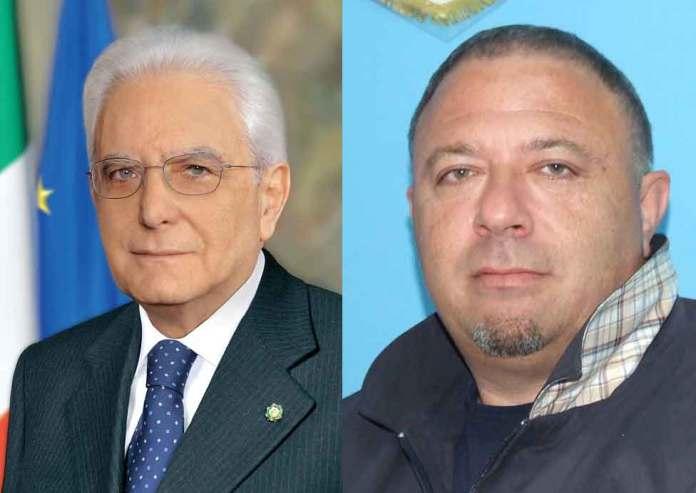 Da sinistra Sergio Mattarella e il giornalista Michele Albanese