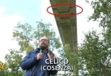 L'inviato di Striscia la Notizia sul viadotto Cannavino a Celico