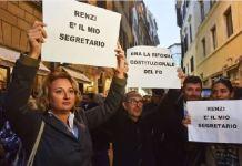 Manifestazione pro Renzi