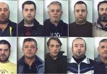 Gli arrestati ad Aversa