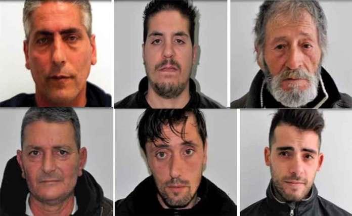 Gli arrestati a Lamezia Terme nell'operazione Lucifero