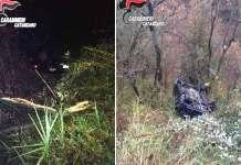 L'auto nel dirupo, intervento valoroso dei Carabinieri che salvano una donna da morte certa