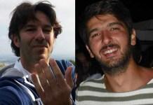 Da sinistra Roberto Perilli, considerato il mandante, e la vittima Giuseppe Sciannimanico