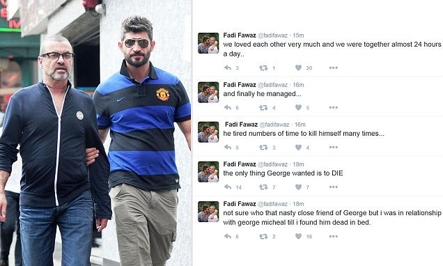 I Twitt di Fadi Fawaz su George Michael. Sono veri o falsi?