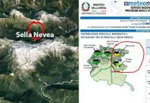 Sella Nevea Alpi Giulie Valanga