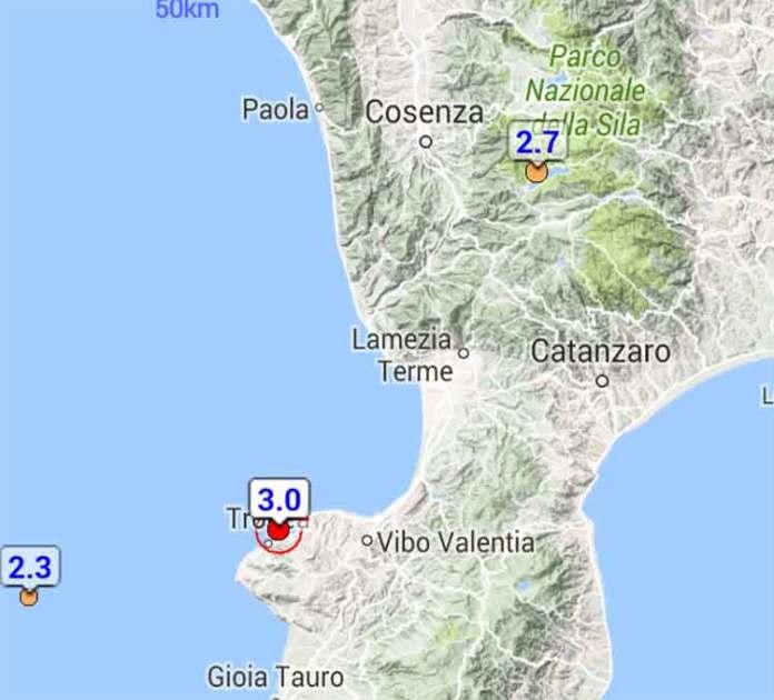 terremoto Vibo Tropea
