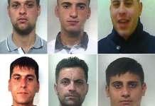 """Le sei persone coinvolte nell'operazione """"Fermi Tutti"""" a Catania"""