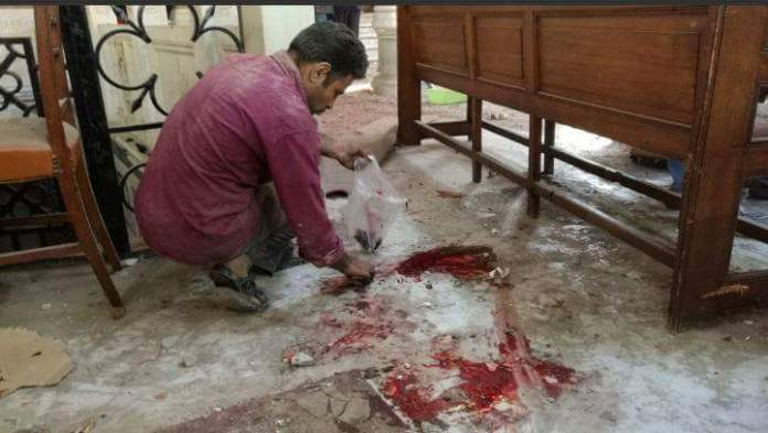 Bomba Chiesa cristiana copta a Tanta