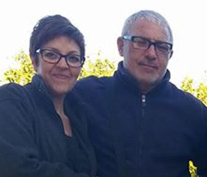 Patrizia Formica e Salvo Pirronello  in una foto scattata domenica
