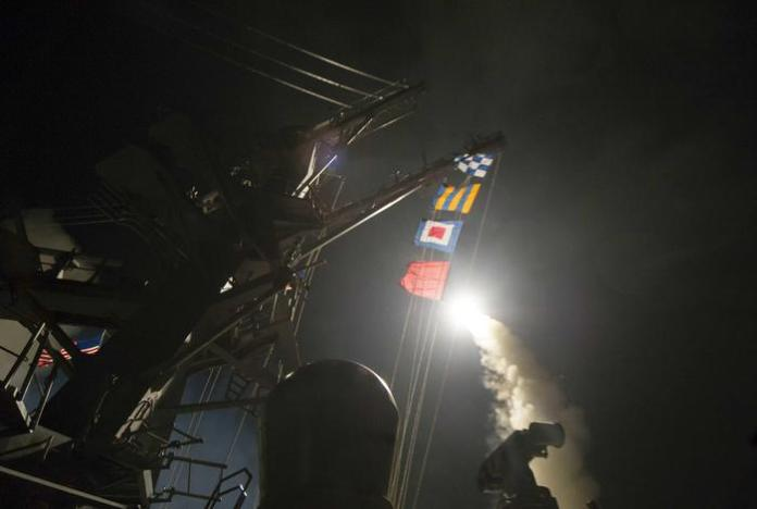 Missili Usa verso Shayrat, in Siria
