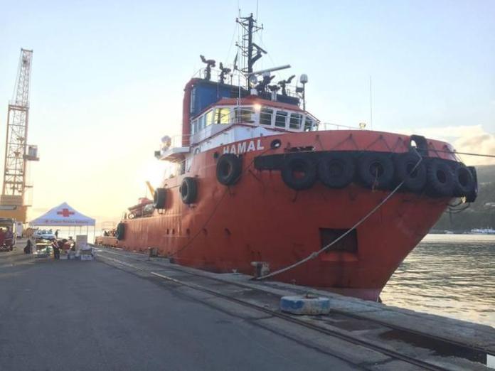 """La nave """"Hamal Napoli"""""""