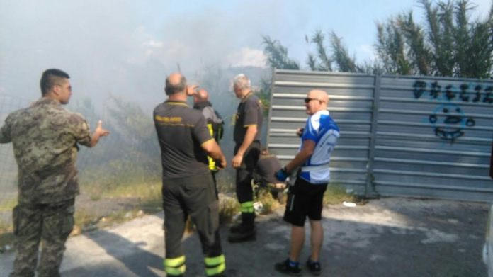 Incendio viale Mancini