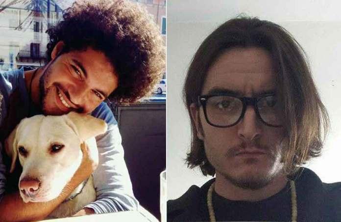A sinistra Eder Guadarelli, arrestato per l'omicidio di Marcello Cenci, a destra