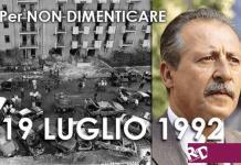 Paolo Borsellino, 19 luglio iniziative in sua memoria