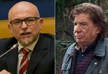 Da sinistra il parlamentare Pd Davide Mattiello e Giovanni Aiello, l'ex agente morto in Calabria