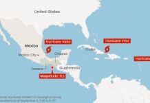 Irma, terremoto messico