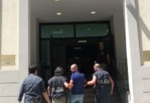 Un frame dell'arresto di Maurizio Cortese